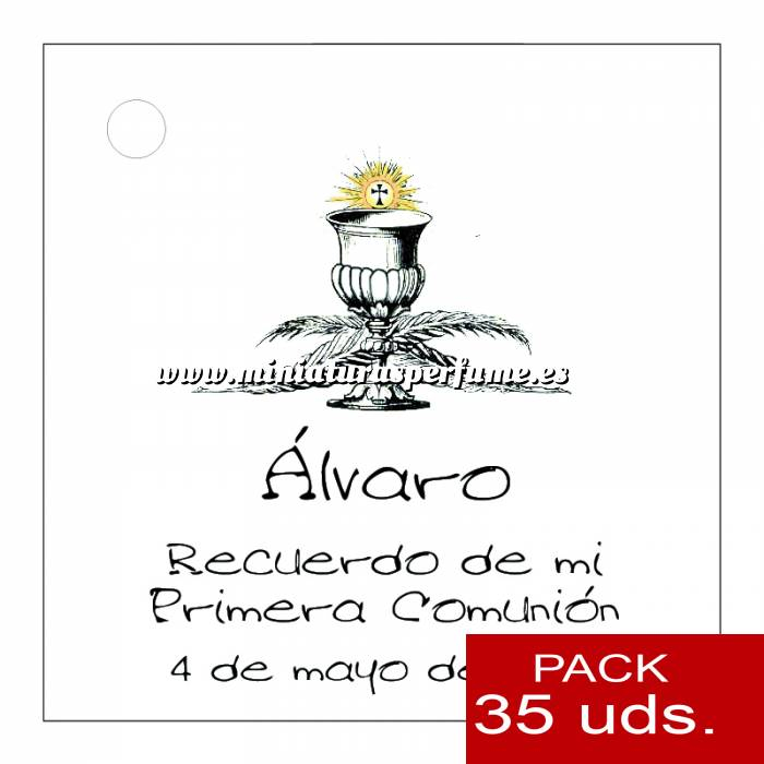 Imagen Etiquetas personalizadas Etiqueta Modelo A20 (Paquete de 35 etiquetas 4x4)