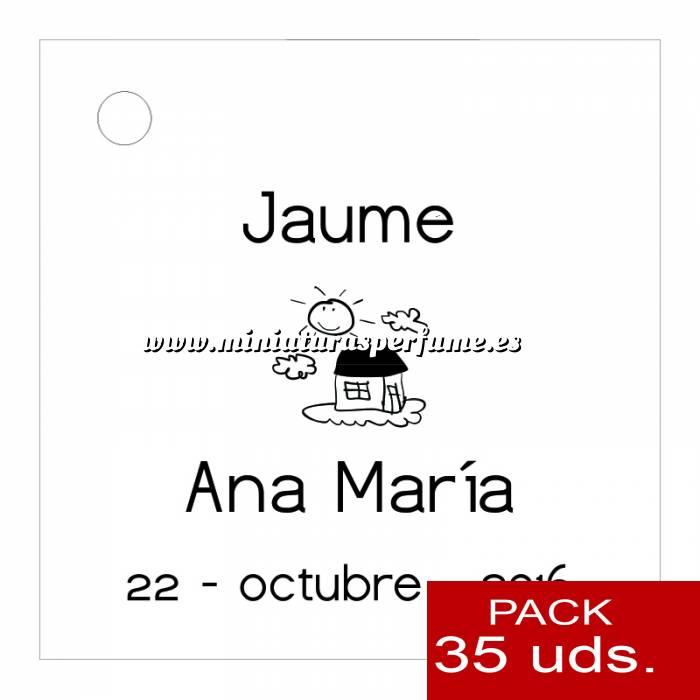 Imagen Etiquetas personalizadas Etiqueta Modelo D03 (Paquete de 35 etiquetas 4x4)