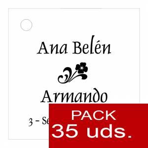Etiquetas personalizadas - Etiqueta Modelo B03 (Paquete de 35 etiquetas 4x4)