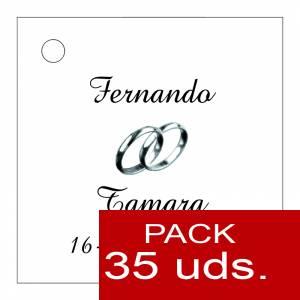 Etiquetas personalizadas - Etiqueta Modelo B08 (Paquete de 35 etiquetas 4x4)