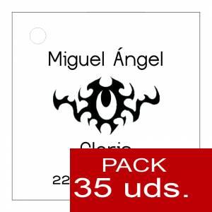 Etiquetas personalizadas - Etiqueta Modelo C16 (Paquete de 35 etiquetas 4x4)