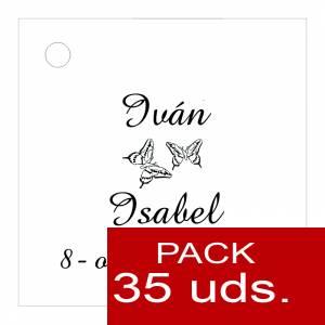 Etiquetas personalizadas - Etiqueta Modelo D02 (Paquete de 35 etiquetas 4x4)