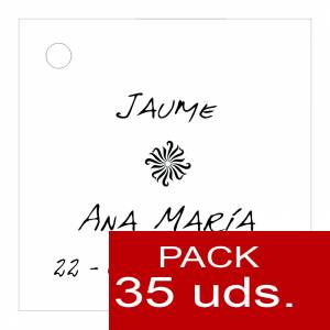 Etiquetas personalizadas - Etiqueta Modelo D04 (Paquete de 35 etiquetas 4x4)