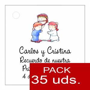 Etiquetas personalizadas - Etiqueta Modelo D18 (Paquete de 35 etiquetas 4x4)