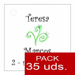Etiquetas personalizadas - Etiqueta Modelo E07 (Paquete de 35 etiquetas 4x4)