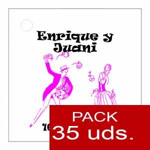 Etiquetas personalizadas - Etiqueta Modelo E11 (Paquete de 35 etiquetas 4x4)