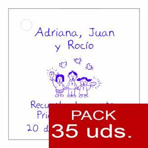 Etiquetas personalizadas - Etiqueta Modelo E19 (Paquete de 35 etiquetas 4x4)