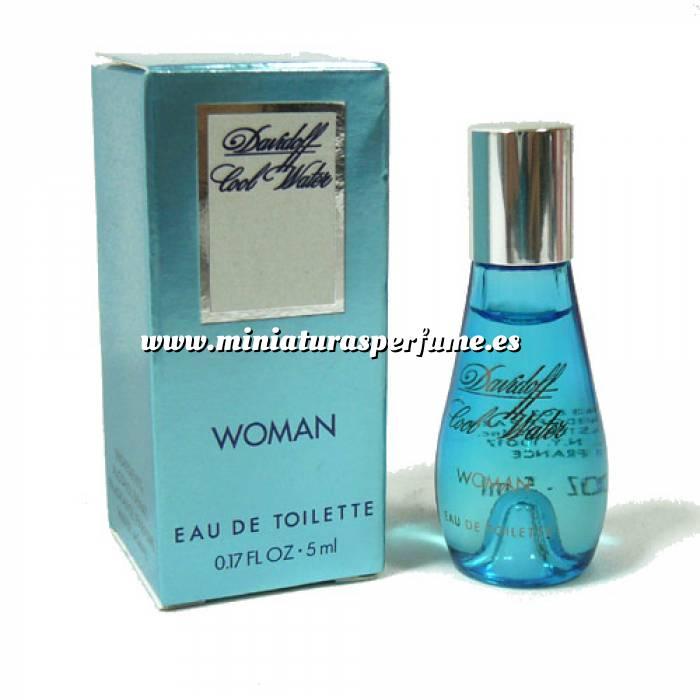 Imagen -Mini Perfumes Mujer Cool Water Woman Eau de Toilette by Davidoff 5ml. (Últimas unidades)