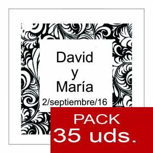 Etiquetas impresas - Etiqueta Modelo A13 (Paquete de 35 etiquetas 4x4)