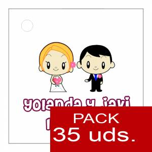 Etiquetas impresas - Etiqueta Modelo C11 (Paquete de 35 etiquetas 4x4)