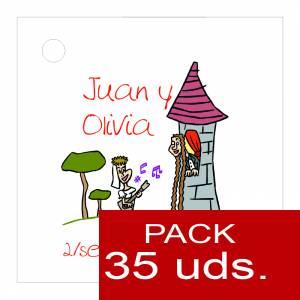 Etiquetas impresas - Etiqueta Modelo D13 (Paquete de 35 etiquetas 4x4)