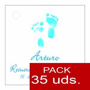 Etiquetas impresas - Etiqueta Modelo D21 (Paquete de 35 etiquetas 4x4)