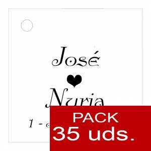 Etiquetas impresas - Etiqueta Modelo E02 (Paquete de 35 etiquetas 4x4)