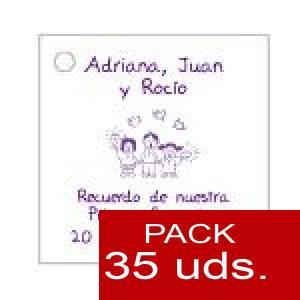 Imagen Etiquetas impresas Etiqueta Modelo E19 (Paquete de 35 etiquetas 4x4)