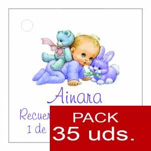 Etiquetas impresas - Etiqueta Modelo F21 (Paquete de 35 etiquetas 4x4)